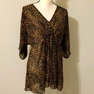 Forever 21 leopard print flowy tunic